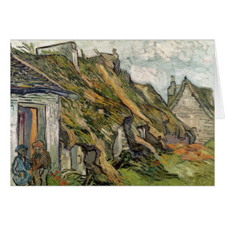 Vincent van Gogh   Thatched Cottages in Chaponval Card