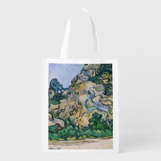 Vincent van Gogh   The Alpilles, 1889 Reusable Grocery Bag