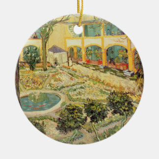 Vincent van Gogh | The Asylum Garden at Arles Ceramic Ornament