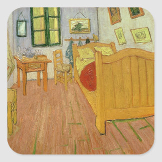 Vincent van Gogh   The Bedroom, 1888 Square Sticker