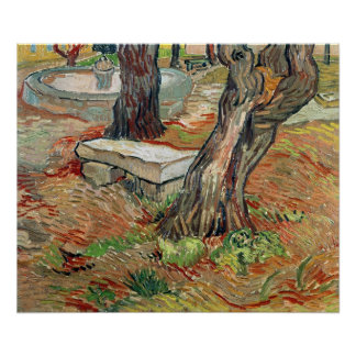 Vincent van Gogh | The Bench at Saint-Remy Poster