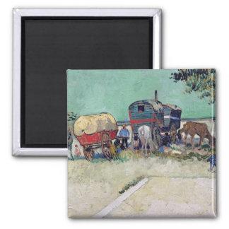 Vincent van Gogh   The Caravans, Gypsy Encampment Magnet