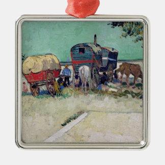 Vincent van Gogh   The Caravans, Gypsy Encampment Metal Ornament