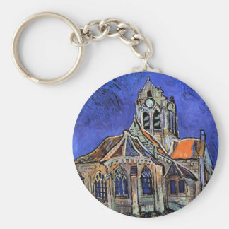 Vincent Van Gogh - The Church at Auvers Keychain