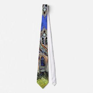 Vincent Van Gogh - The Church at Auvers Neck Tie