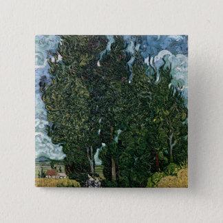 Vincent van Gogh | The cypresses, c.1889-90 Button