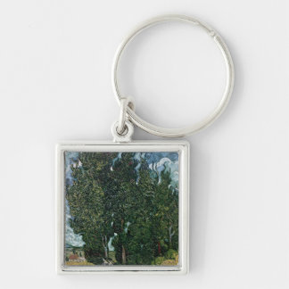 Vincent van Gogh | The cypresses, c.1889-90 Keychain