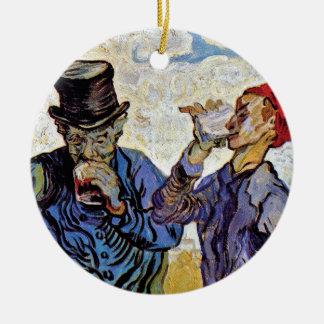 Vincent Van Gogh - The Drinkers - Fine Art Ceramic Ornament