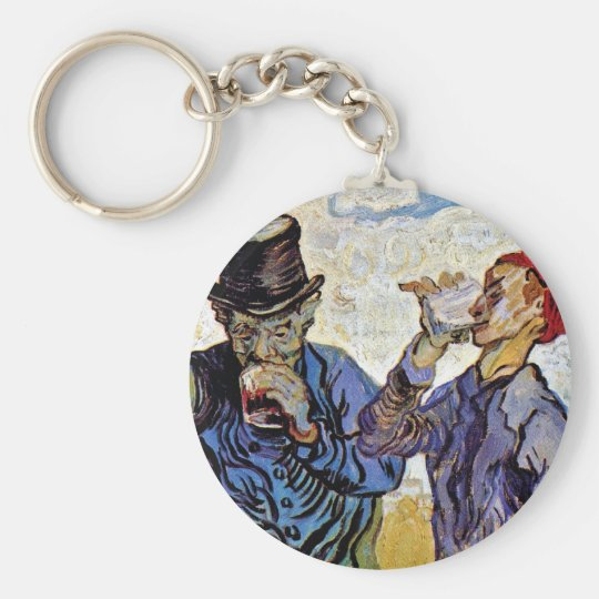Vincent Van Gogh - The Drinkers - Fine Art Keychain