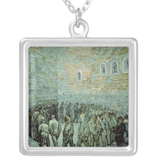 Vincent van Gogh | The Exercise Yard Silver Plated Necklace