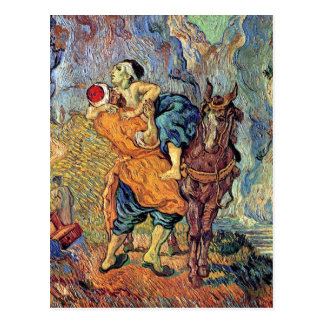 Vincent Van Gogh - The Good Samaritan - Fine Art Postcard