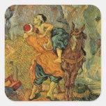 Vincent Van Gogh - The Good Samaritan Square Sticker