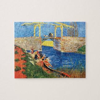 Vincent Van Gogh - The Langlois Bridge At Arles Jigsaw Puzzle
