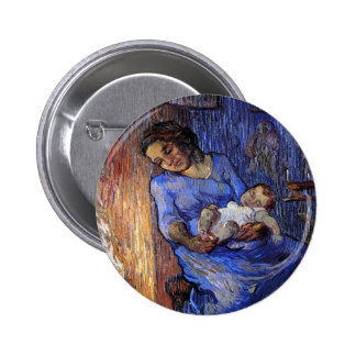 Vincent Van Gogh - The Man Is At Sea Fine Art Pinback Button