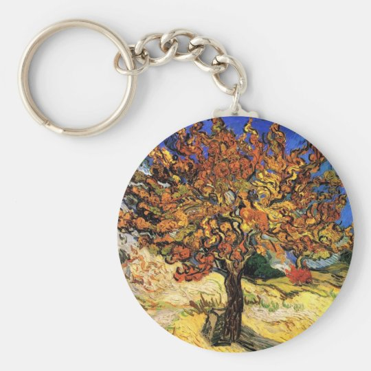 Vincent Van Gogh - The Mulberry Tree Fine Art Keychain