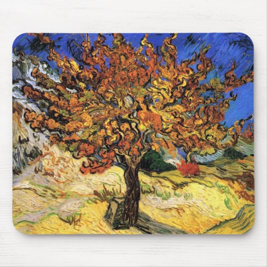 Vincent Van Gogh - The Mulberry Tree Fine Art Mouse Pad