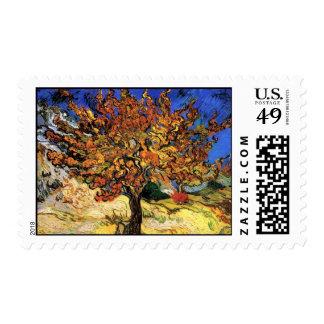 Vincent Van Gogh - The Mulberry Tree Fine Art Stamp