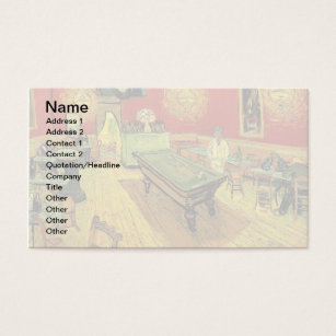 Fine art business cards templates zazzle vincent van gogh the night cafe fine art business card reheart Images
