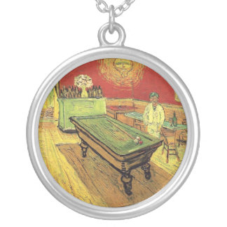 Vincent Van Gogh - The Night Cafe Fine Art Silver Plated Necklace
