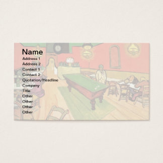 Vincent Van Gogh - The Night Cafe In Arles Business Card