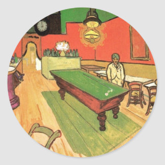 Vincent Van Gogh - The Night Cafe In Arles Classic Round Sticker