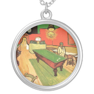 Vincent Van Gogh - The Night Cafe In Arles Silver Plated Necklace