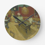 Vincent Van Gogh The Night Cafe Painting Art Work Round Clock