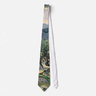 Vincent van Gogh, The Olive Trees.  Famous art Neck Tie