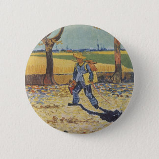 Vincent Van Gogh - The Painter on his Way to Work Button