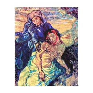 Vincent Van Gogh - The Pieta - Jesus & Virgin Mary Canvas Print