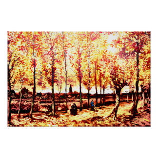 Vincent Van Gogh - The poplars in Nuenen 2 Poster