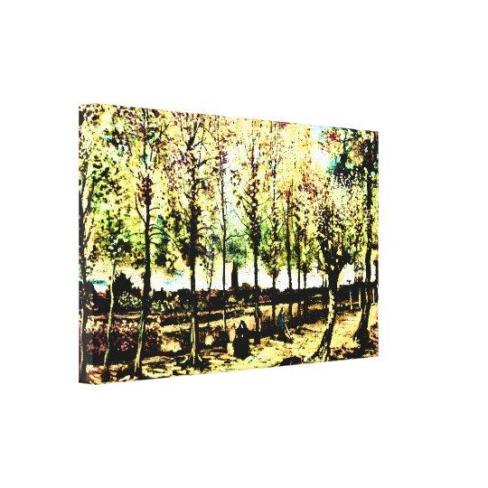 Vincent Van Gogh - The poplars in Nuenen 3 Canvas Print