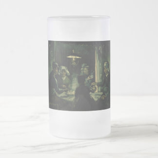 Vincent van Gogh - The potato eaters Frosted Glass Beer Mug