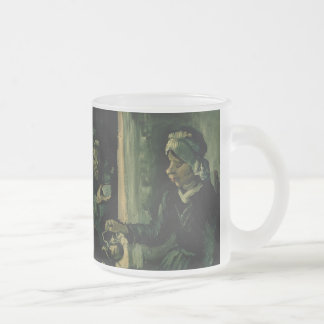 Vincent van Gogh - The potato eaters 10 Oz Frosted Glass Coffee Mug