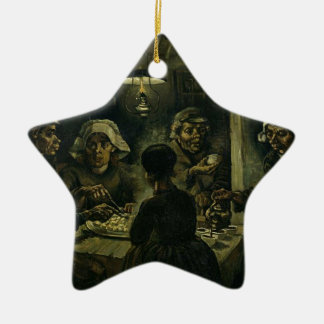 Vincent Van Gogh The Potato Eaters Painting. Art Ceramic Ornament