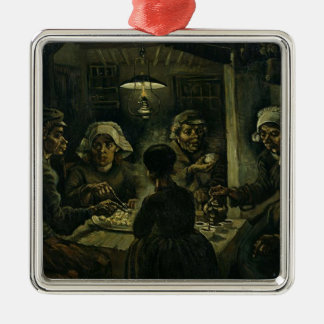 Vincent Van Gogh The Potato Eaters Painting. Art Metal Ornament