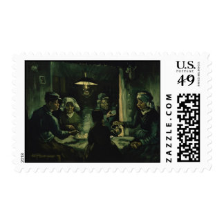 Vincent van Gogh - The potato eaters Postage Stamp