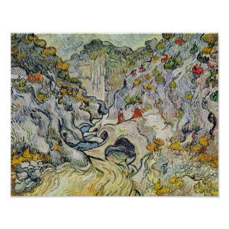 Vincent van Gogh | The ravine of the Peyroulets Poster