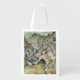 Vincent van Gogh   The ravine of the Peyroulets Reusable Grocery Bag