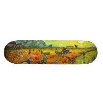 Vincent van Gogh - The Red Vineyards Skateboard