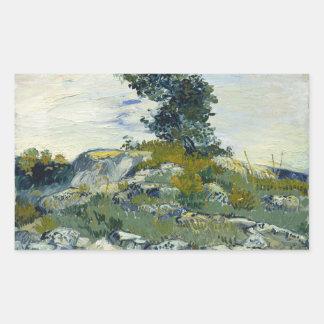 Vincent van Gogh - The Rocks Rectangular Sticker
