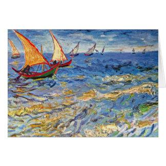 Vincent Van Gogh - The Sea At Saintes Maries Card