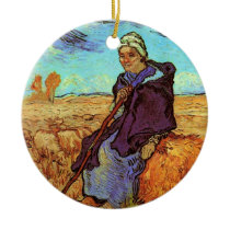 Vincent Van Gogh - The Shepherdess (after Millet) Ceramic Ornament