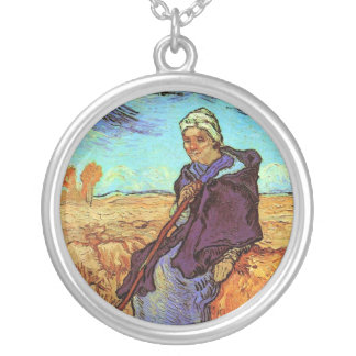 Vincent Van Gogh - The Shepherdess (after Millet) Silver Plated Necklace