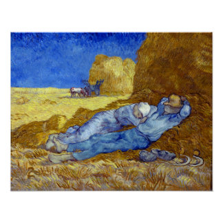 Vincent van Gogh The Siesta Poster
