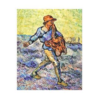 Vincent Van Gogh - The Sower - Fine Art Painting Canvas Print