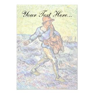 Vincent Van Gogh - The Sower - Fine Art Painting Card