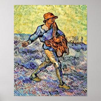 Vincent Van Gogh - The Sower - Fine Art Painting Poster