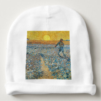 Vincent Van Gogh The Sower Painting Art Baby Beanie