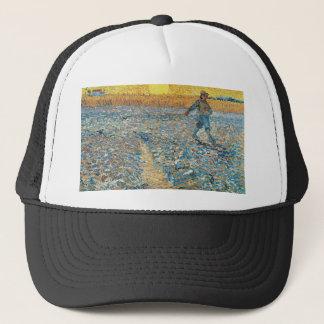 Vincent Van Gogh The Sower Painting Art Trucker Hat